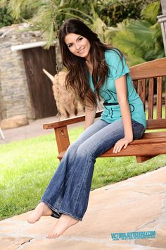 Victoria justice spread out her legs in jeans