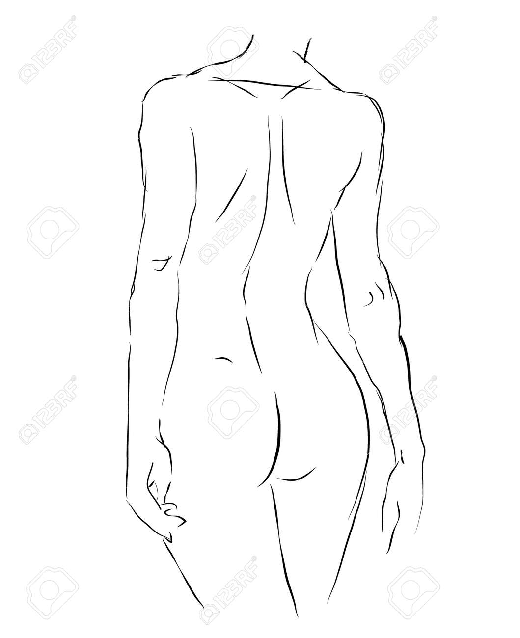 How to draw naked girl
